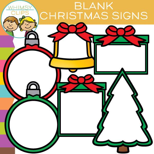 600x600 Free Blank Christmas Signs Clip Art , Images Amp Illustrations