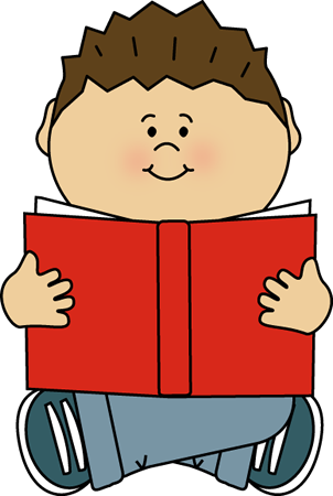 302x450 Kid Reading Alone Clip Art