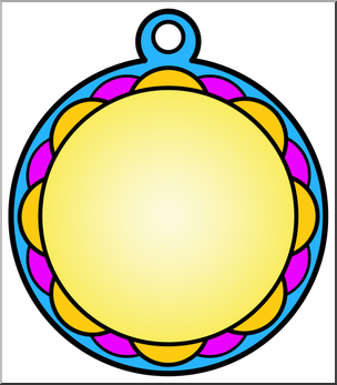 304x347 Clip Art Circle Award 2 Color I Abcteach