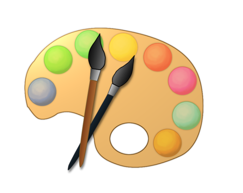 800x638 Clip Art Artist Paint Palette Clipart Kid 3