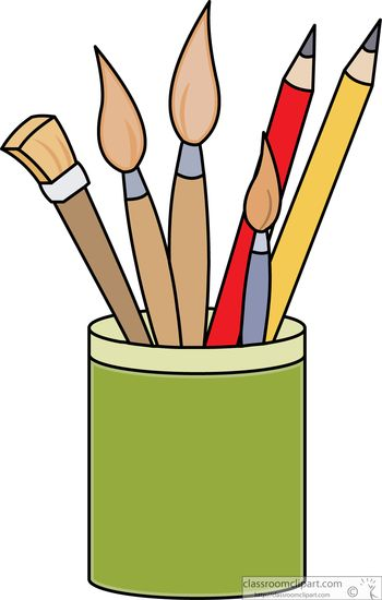 350x550 Paint Supplies Clipart
