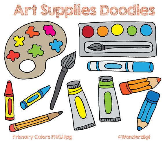 570x485 Art Materials Clipart
