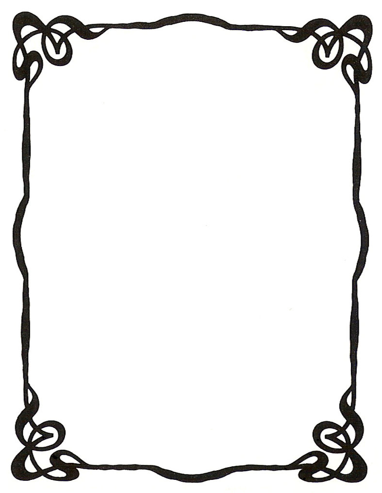 787x1015 Art Nouveau Ink Picture Frame By Enchantedgal Stock