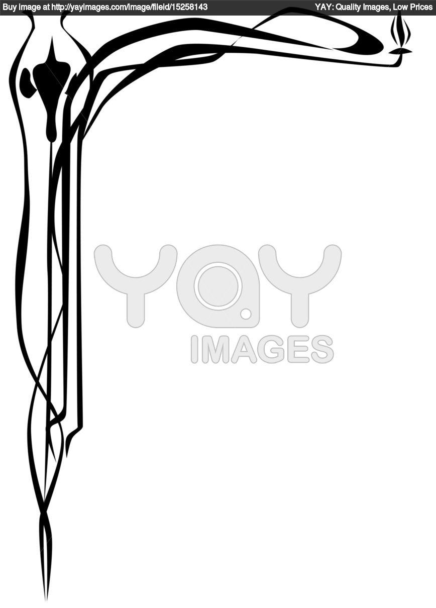 868x1210 Calligraphy Clipart Art Deco
