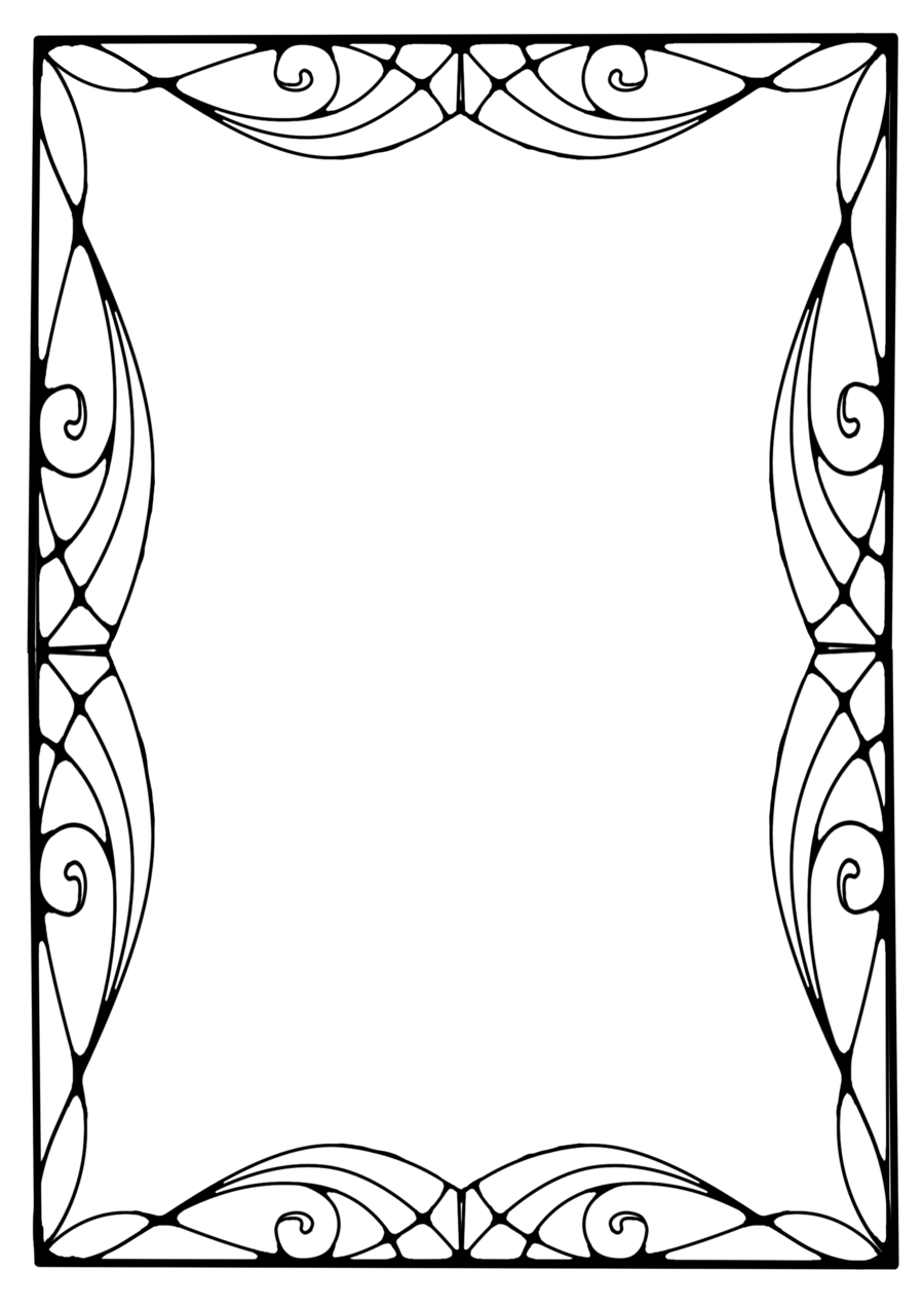 900x1273 Decorative Border Art Deco
