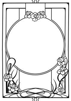 236x333 Lines Clipart Art Nouveau