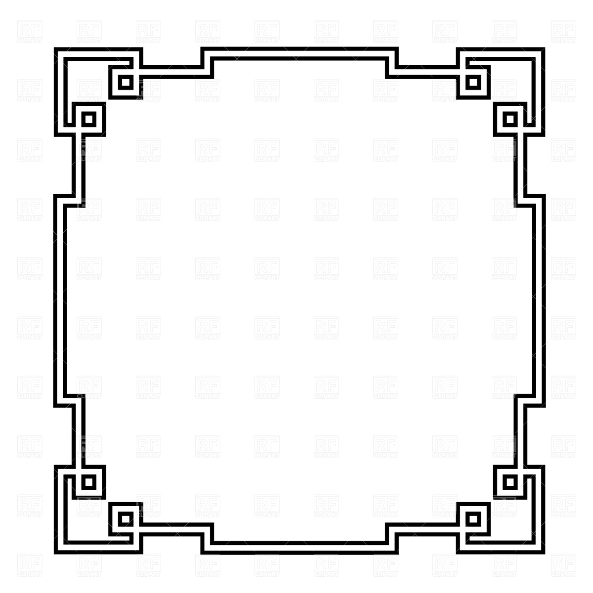 1200x1200 Square Frame Clipart