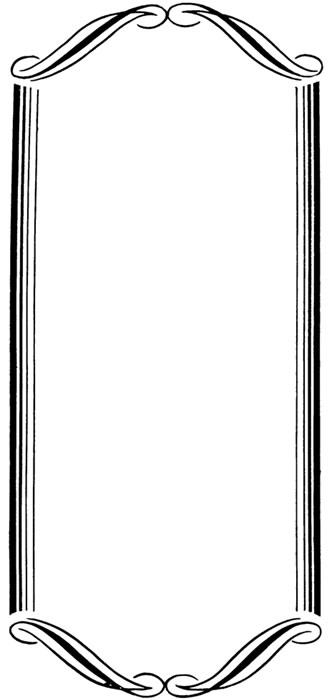331x700 Vintage Border Clip Art 2
