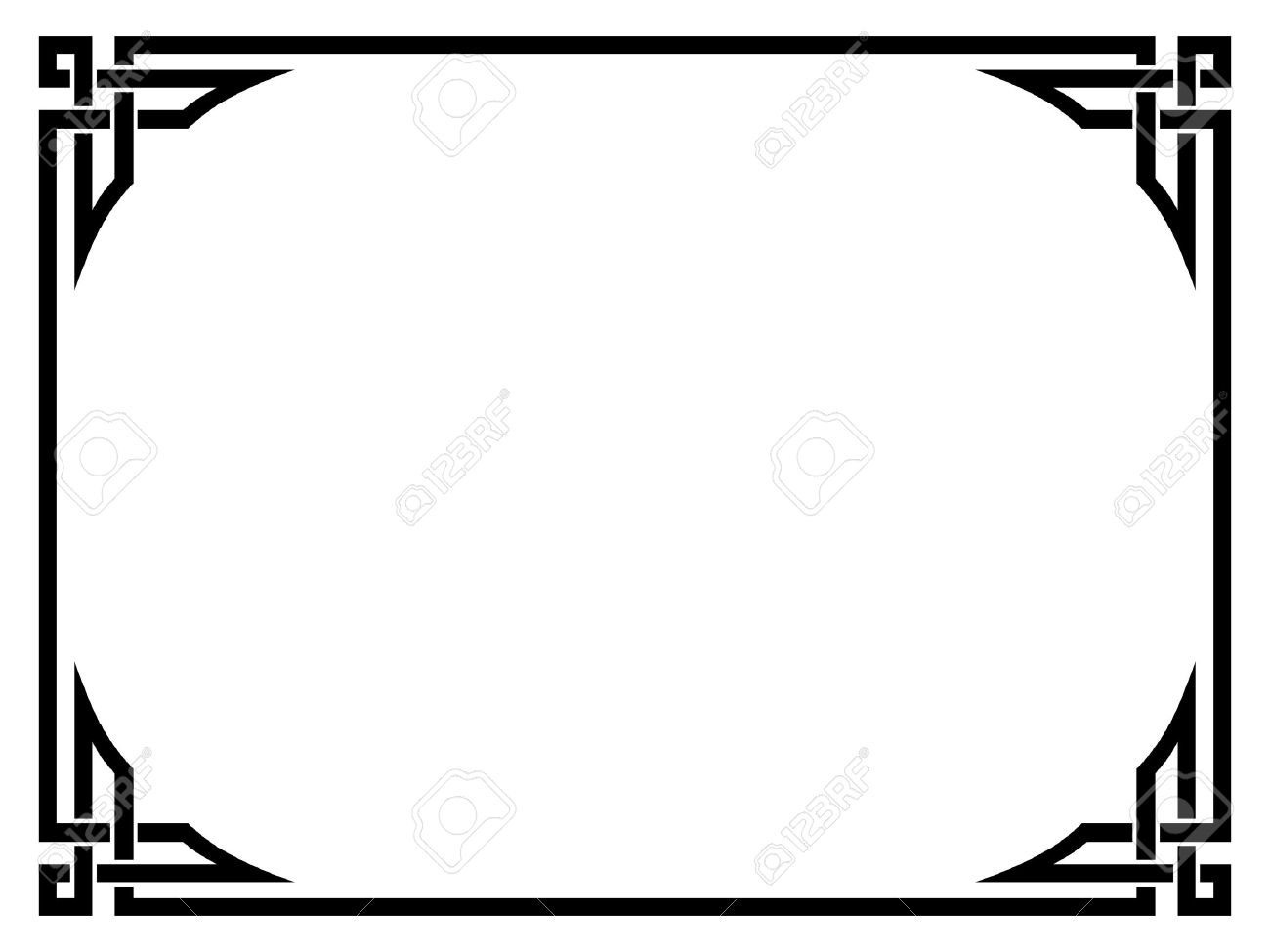 1300x975 Art Deco Border Vector