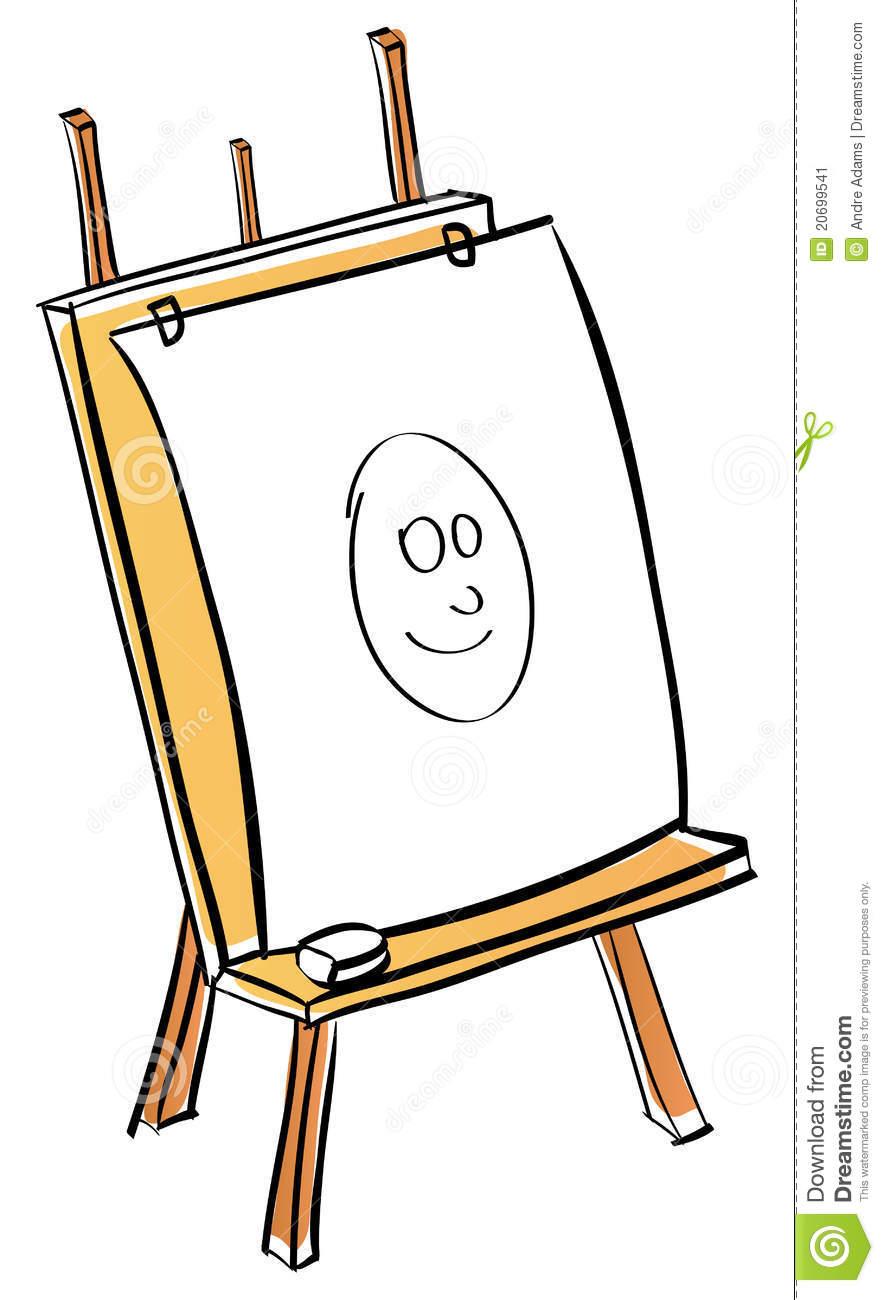 884x1300 Artist Easel Clipart