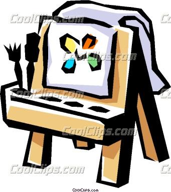 341x383 Artist Easel Clipart