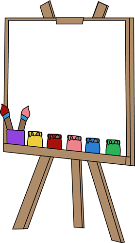 278x500 Blank Paint Easel Clip Art Image