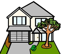 250x218 House Clipart Images