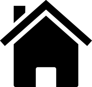 298x282 Simple Black House Clip Art