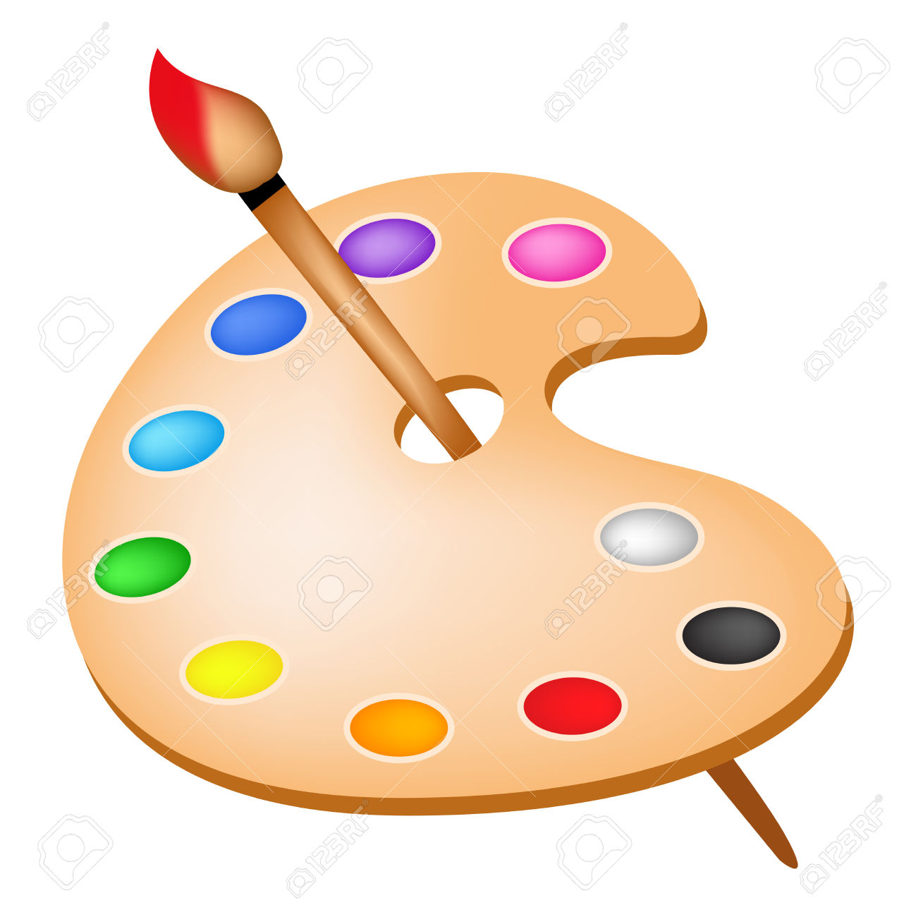 1299x1300 Paint Clipart Colour Palette
