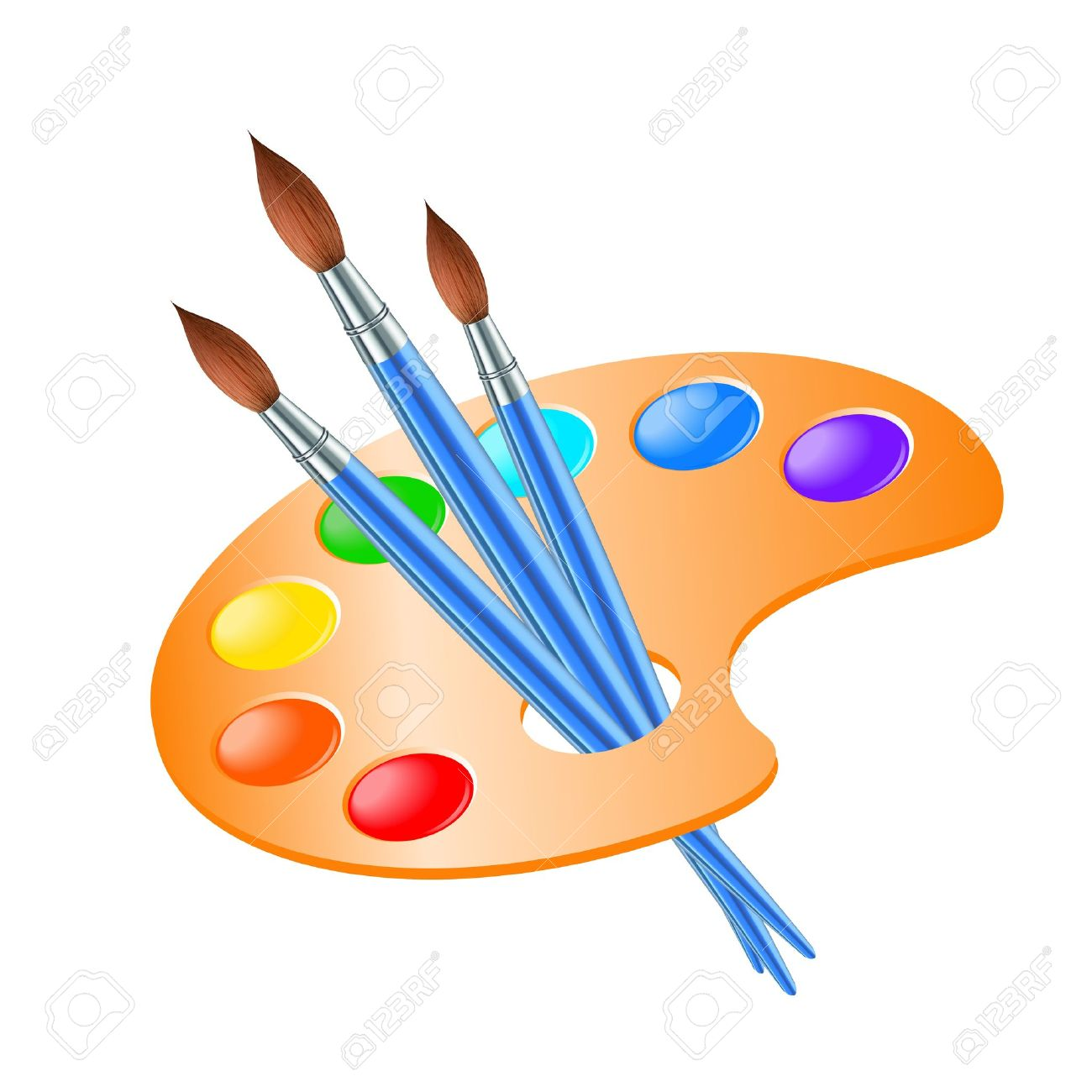1300x1300 Palette Clipart Paintbrush
