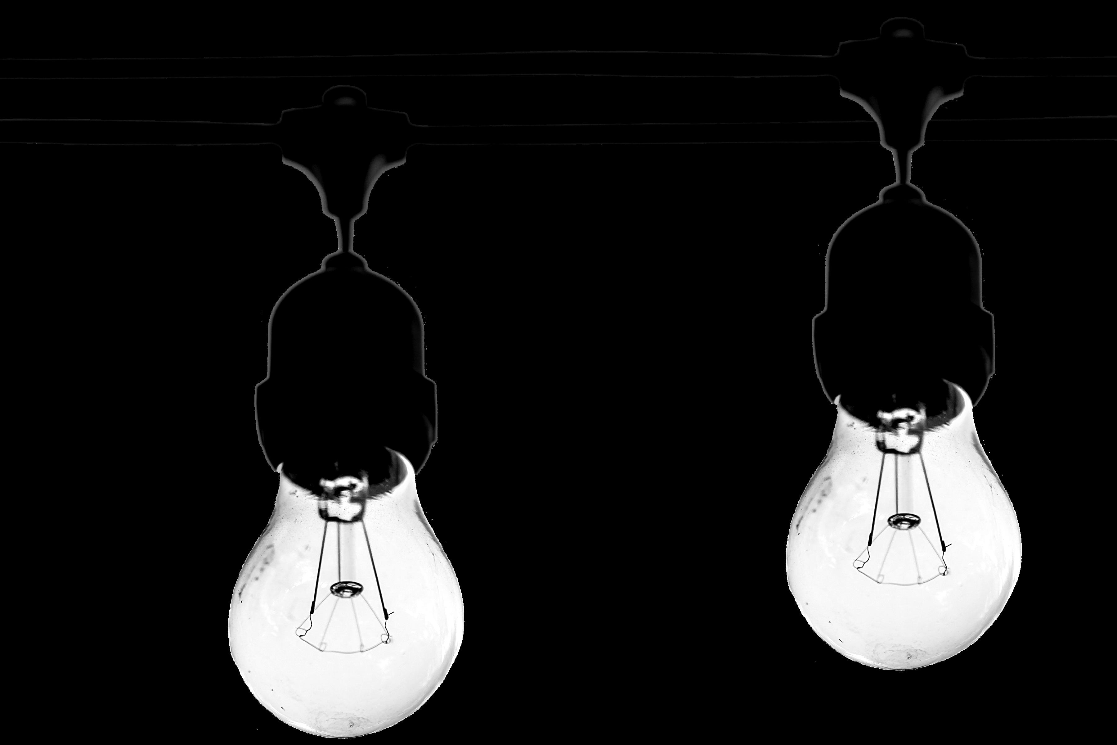 3600x2400 Free Stock Photo Of Art, Black And White, Bulb