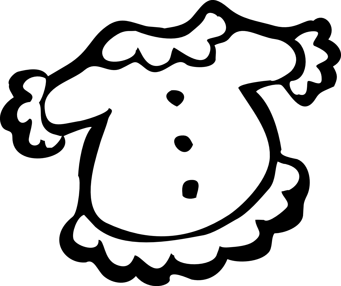 1331x1115 Artistic Clipart Black And White