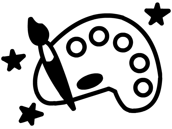 602x452 Clipart Black And White