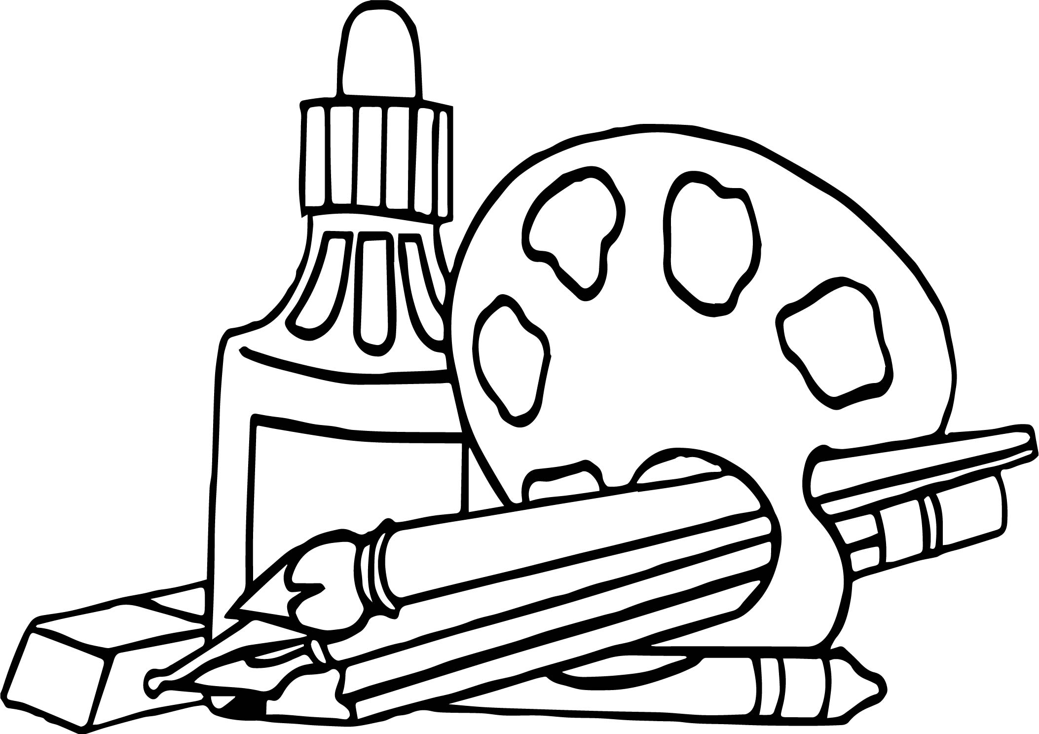 free art supply coloring pages | Art Supplies Coloring Pages | Free download best Art ...