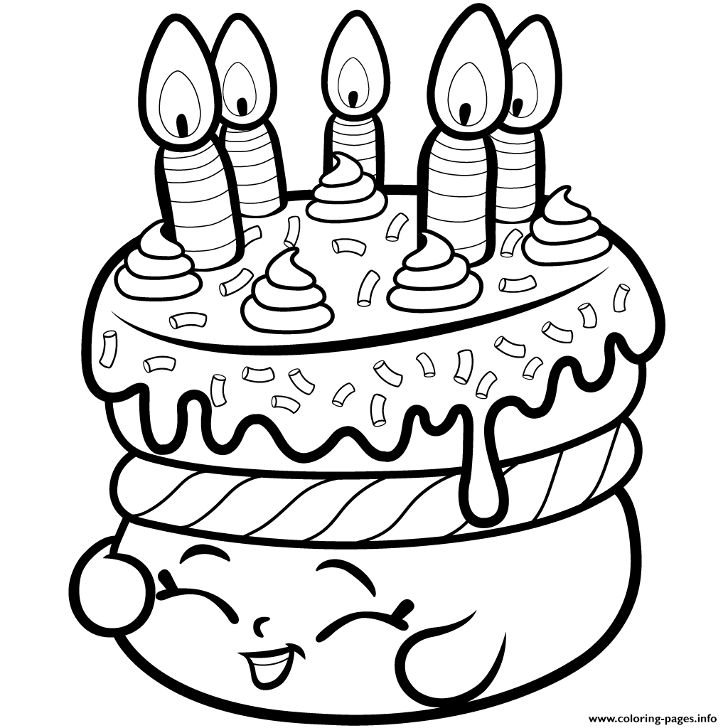 1024x1024 Print Cake Wishes Shopkins Season 1 From Coloring Pages Shopkins