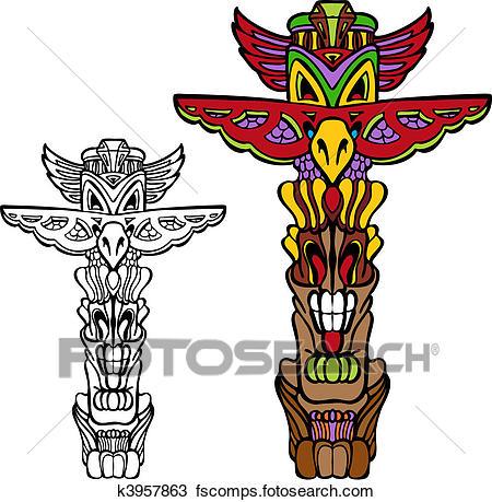450x459 Totem Pole Clip Art Vector Graphics. 287 Totem Pole Eps Clipart