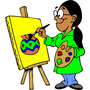 Art painter. Artist painting clipart free