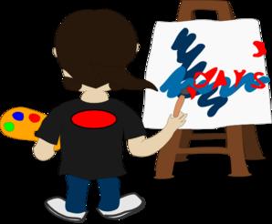 298x246 Artist Painting Clip Art