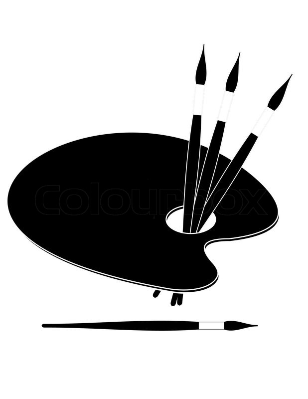 618x800 Paint Brushes And Palette Clip Art