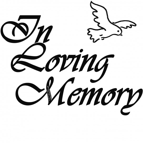 600x600 Dove Clipart Loving Memory