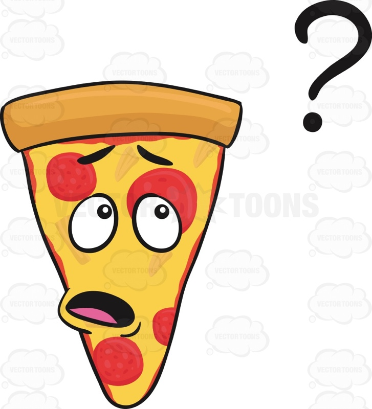 727x800 Clueless Slice Of Pepperoni Pizza Looking At Floating Question