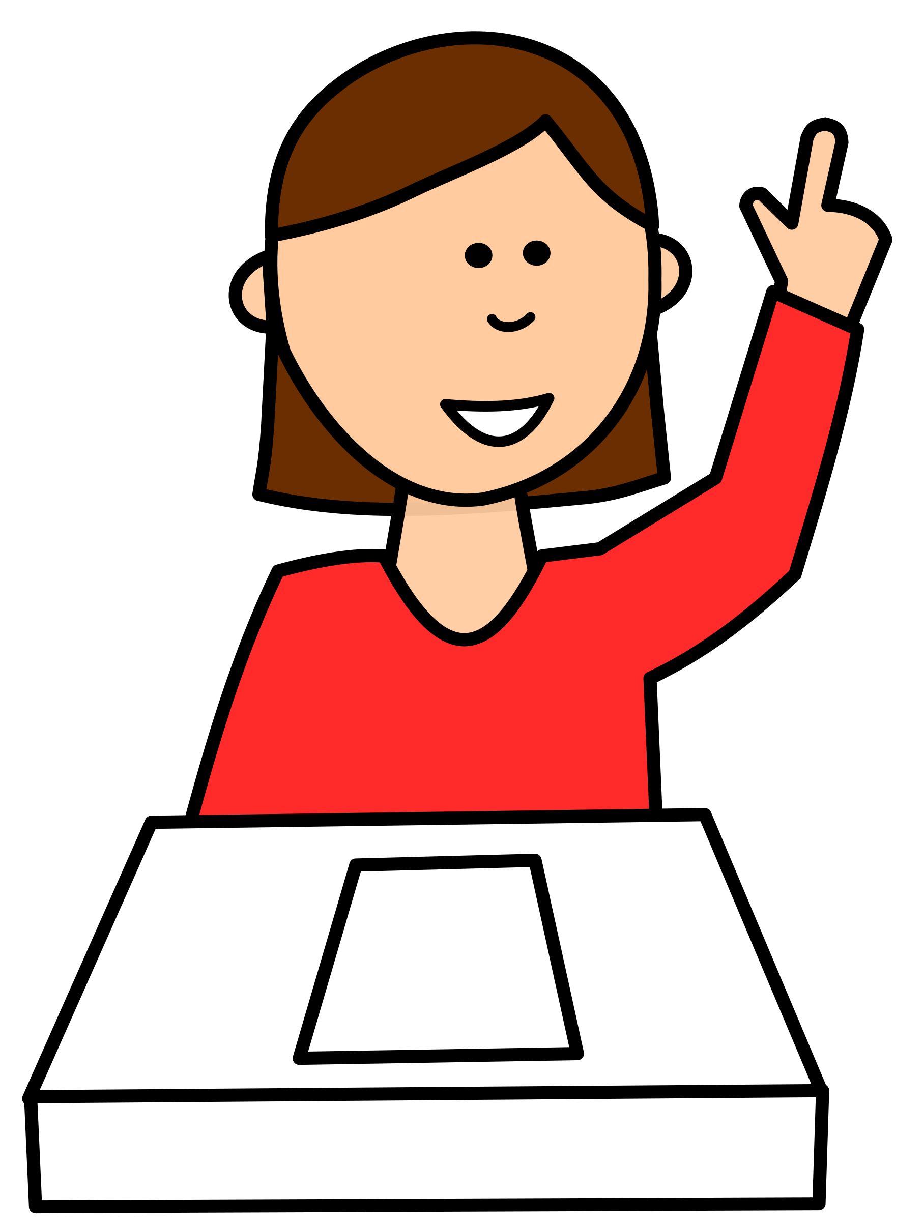 1816x2400 Student Asking Question Clipart