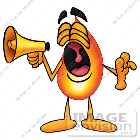 450x450 Cliprt Graphic Of Fire Cartoon Character Screaming Into