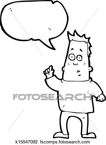 344x470 Clipart Of Cartoon Man Asking Question K15547092
