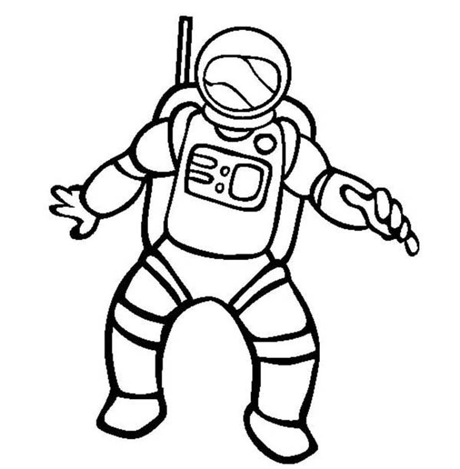 Astronaut Clipart Black And White | Free download on ...