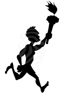 271x400 Athlete Silhouette Clipart