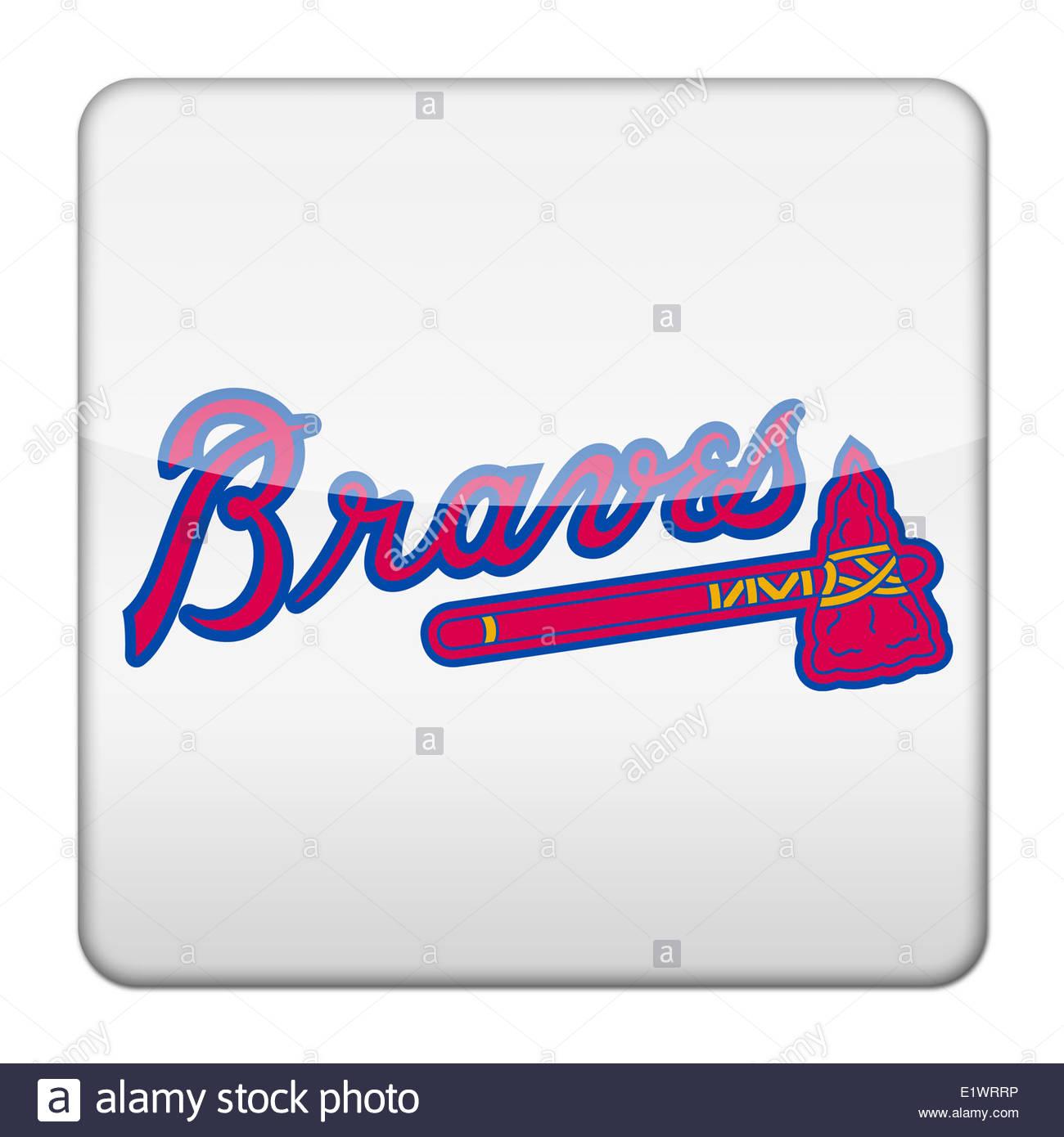 1300x1390 Atlanta Braves Icon Logo Isolated App Button Stock Photo, Royalty