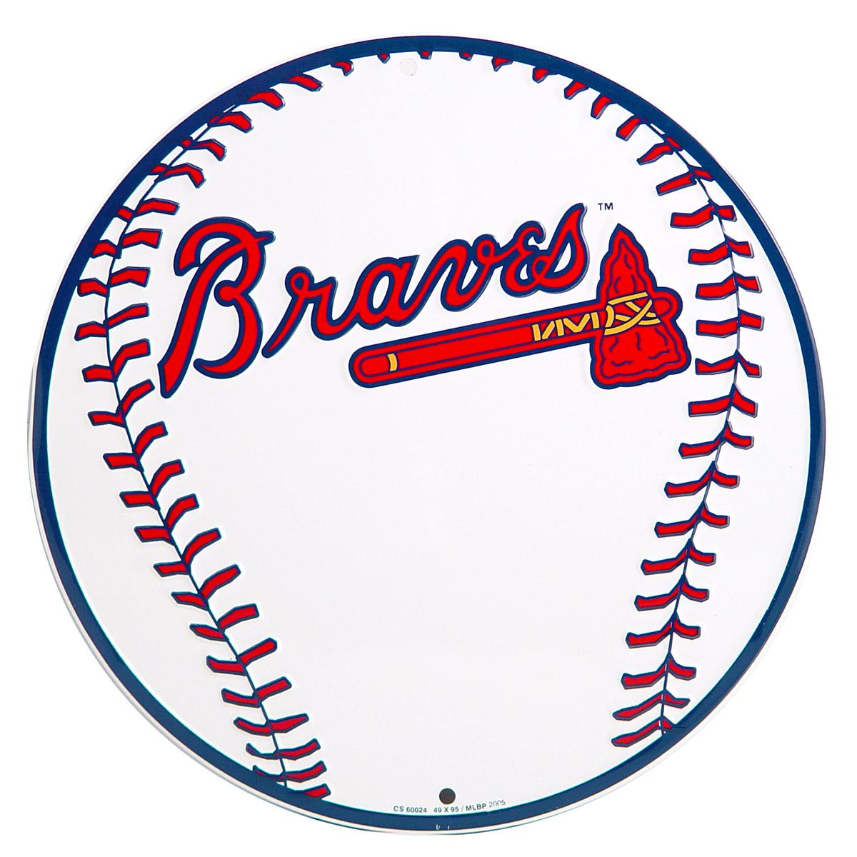 1200x1200 Atlanta Braves Baseball Logo Metal Sign Sports Team Decor