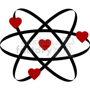 300x300 Royalty Free Atom Of Love 394855 Vector Clip Art Image