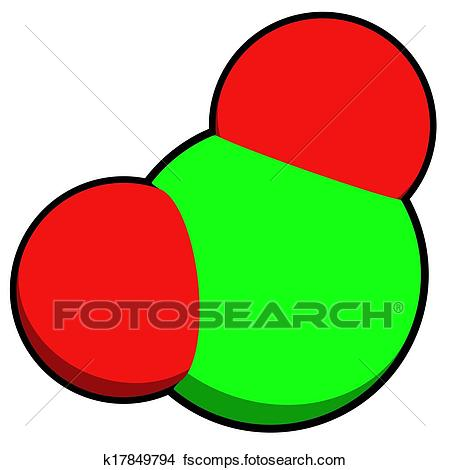 450x470 Drawings Of Chlorine Dioxide (Clo2) Molecule. Used In Pulp