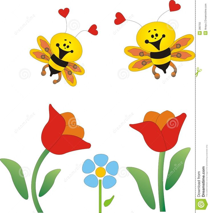 August Flowers Clipart