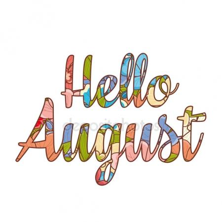 450x450 Hello August Stock Vectors, Royalty Free Hello August