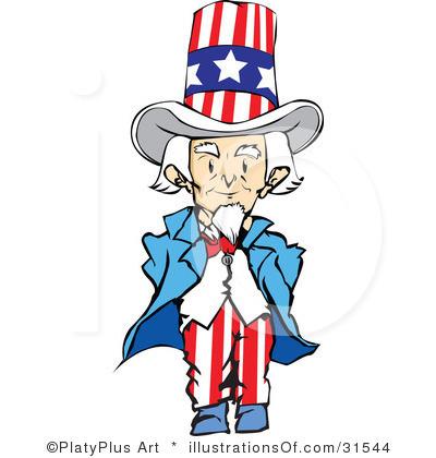 400x420 Cartoon Uncle Sam Clipart