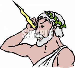 300x271 Art Image The God Zeus With A Bolt Of Lightning