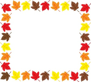 300x270 Fall Leaves Clipart Black And White Border Clipart Panda