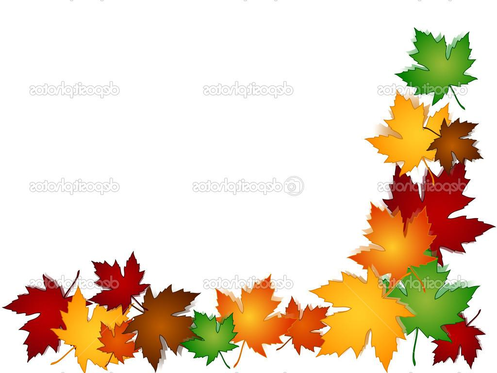 1024x768 Top And White Leaf Border Clipart Autumn Leaves Free Cdr