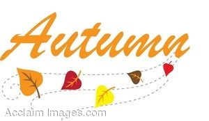 300x174 Clip Art Of Leaves With The Word Autumn