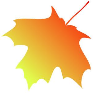 300x300 October Fall Clip Art