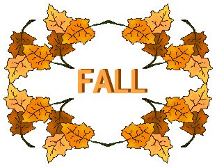 312x240 Clip Art For Fall Season Circle Of Leaves With A Fall Title