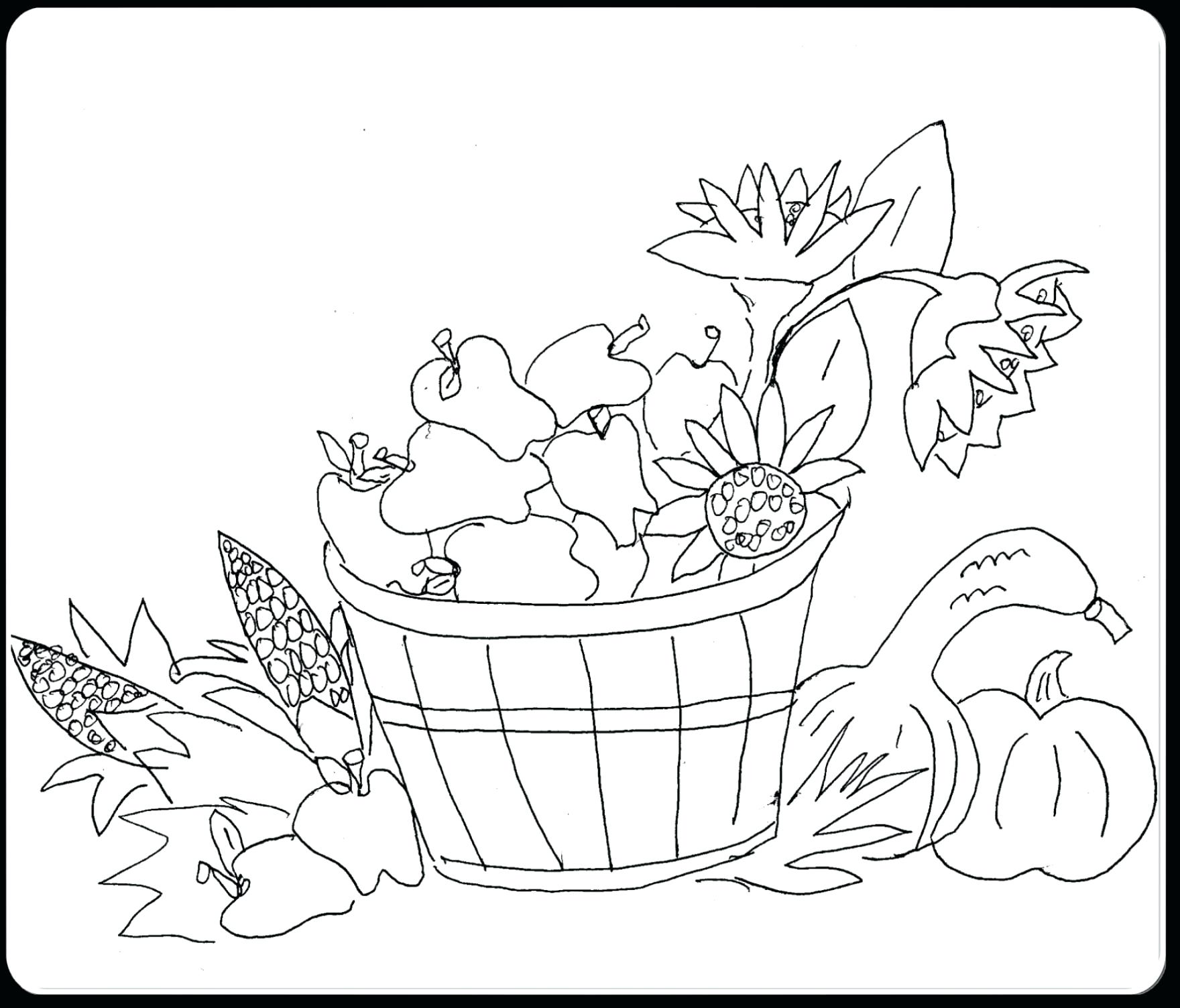 1760x1504 Fall Scarecrow Coloring Page 56 Enchanting Harvest Pages Autumn